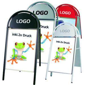 Kundenstopper mit Logo